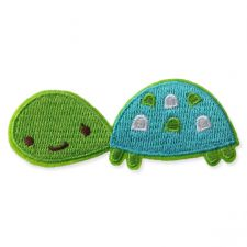 CUTE TURTLE MOTIF IRON ON EMBROIDERED PATCH APPLIQUE